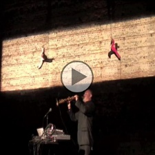 Exuvia, vertical dance performance
